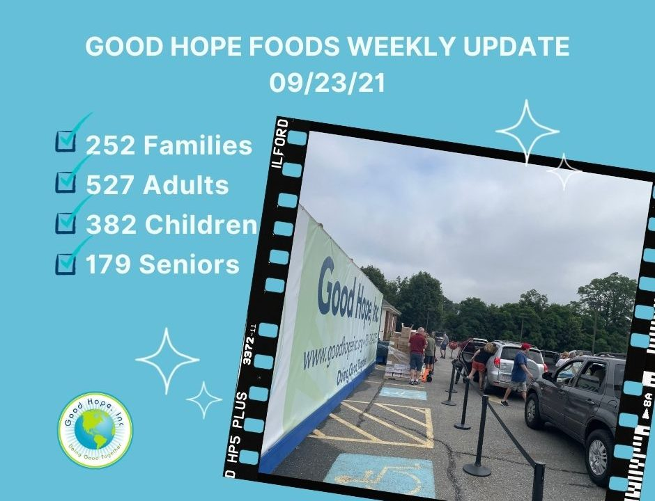 Food pantry weekly update 09/23/21